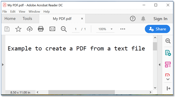 Create a PDF