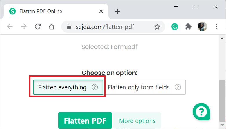 Flatten a PDF