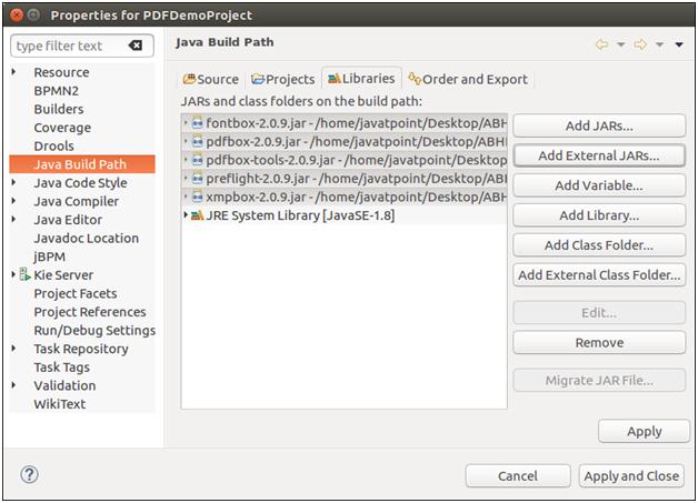 PDFBox Environment Setup