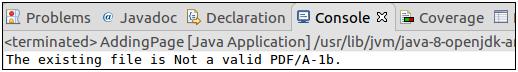 PDFBox Validation