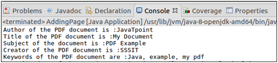 PDFBox Working with Metadata