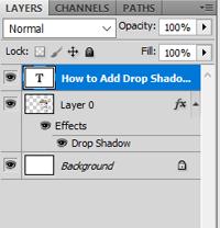 Drop Shadow in Photoshop