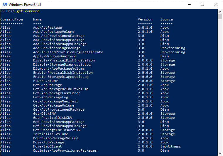 PowerShell Get-Command