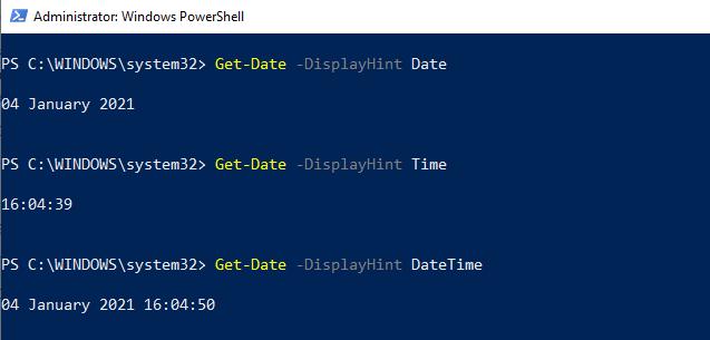 PowerShell Get-Date Format