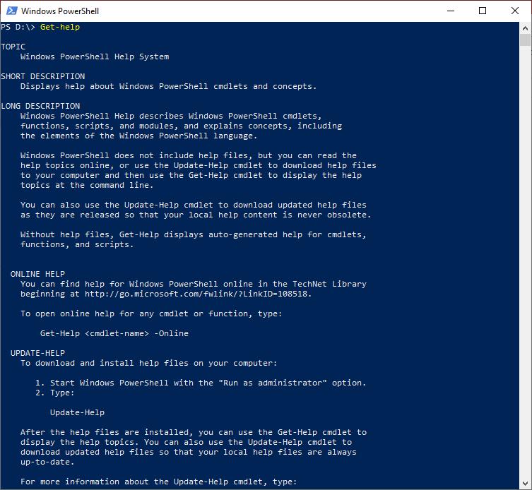 PowerShell Get-Help