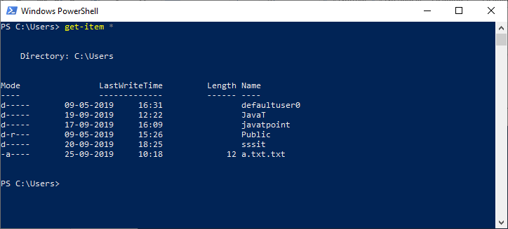 PowerShell Get-Item