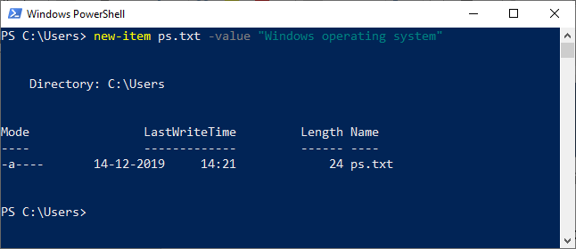 PowerShell New-Item