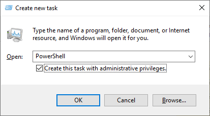 PowerShell run as Administrator