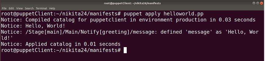 Puppet Manifest