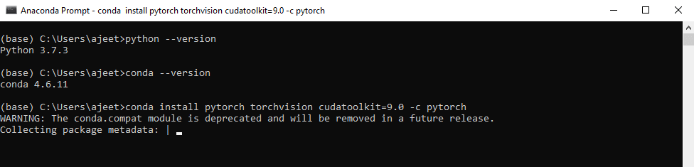 Installation on Windows using Conda