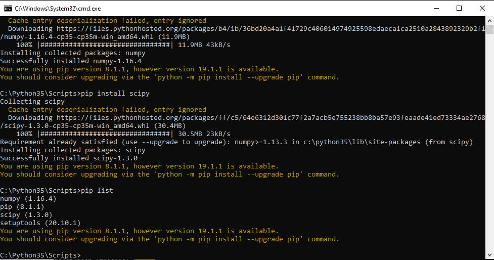 Installation on Windows using Pip