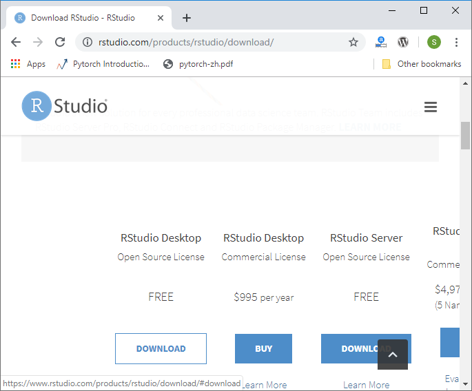 Installation of RStudio