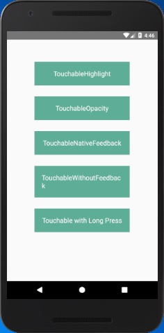 React Native Touchables - javatpoint
