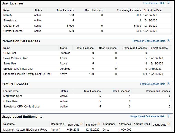 Salesforce Licenses