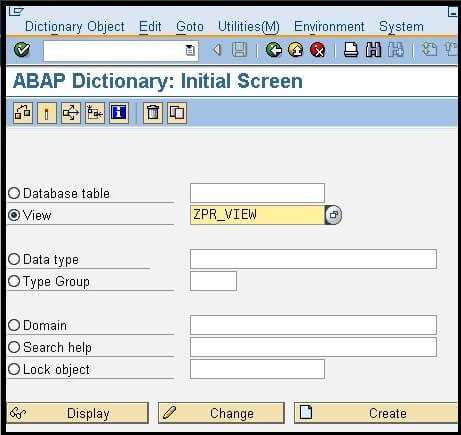 ABAP Projection View