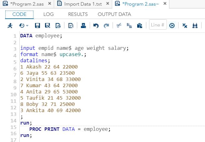 Format Data Sets