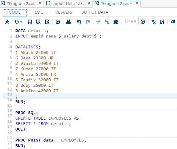 SAS-SQL - Javatpoint