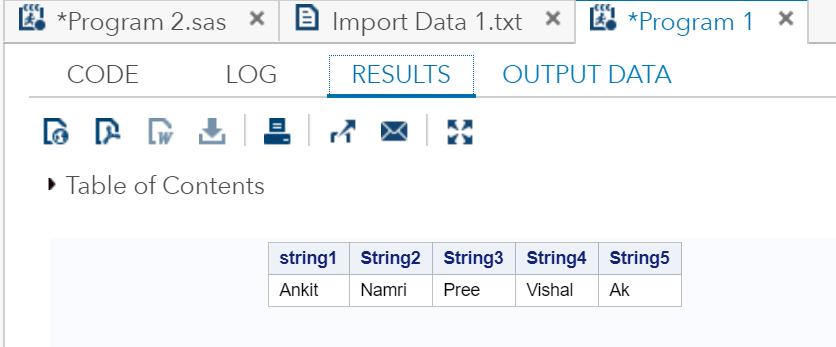 SAS- String