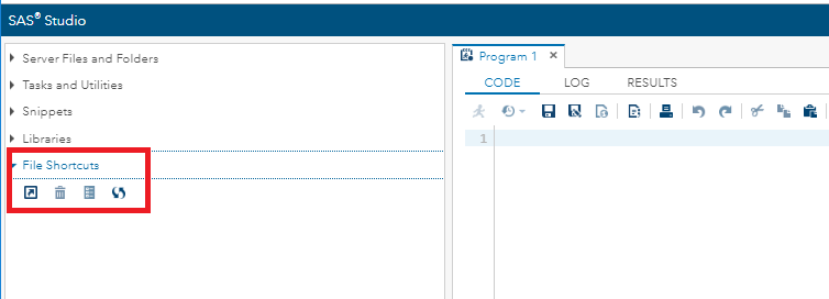 SAS User Interface