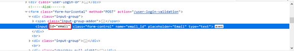 Selenium CSS Selector - ID