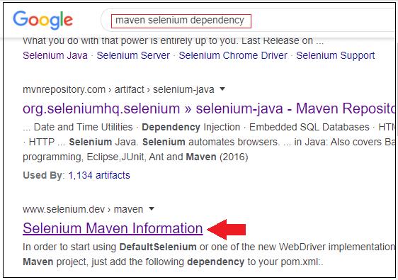 Selenium Maven
