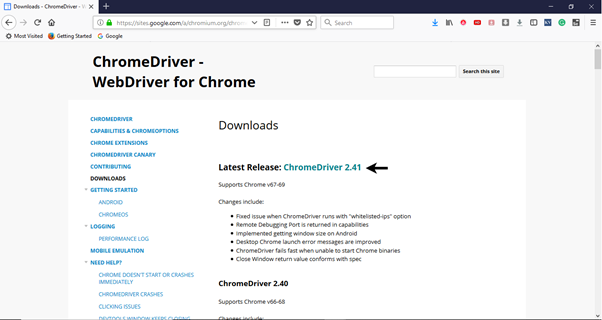 Selenium WebDriver First Test Case