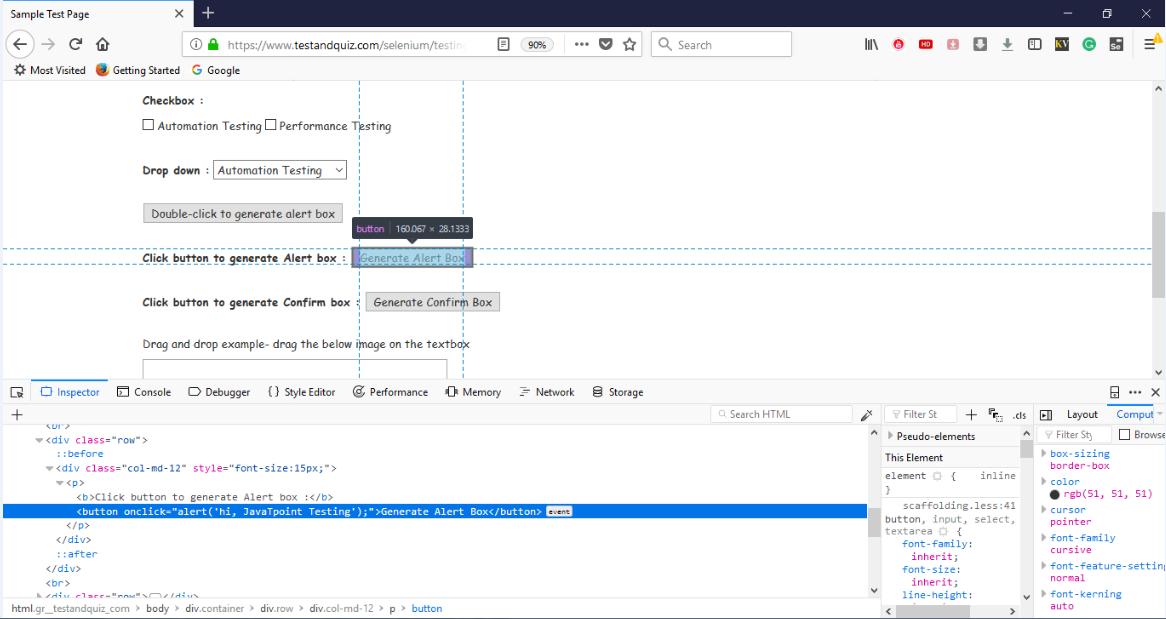 Selenium WebDriver- Handling Alerts