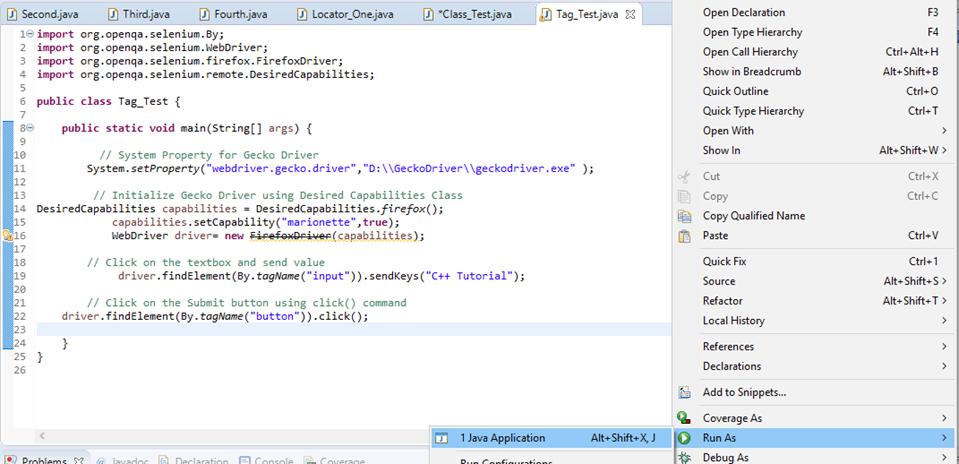 Selenium Webdriver Locating Strategies By Tag Name