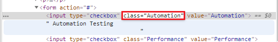 Selenium Webdriver Locating Strategies By Class Name
