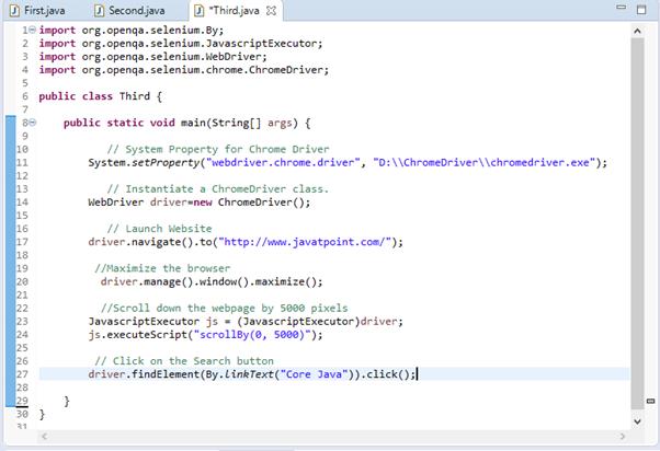 Selenium WebDriver Running test on Chrome Browser