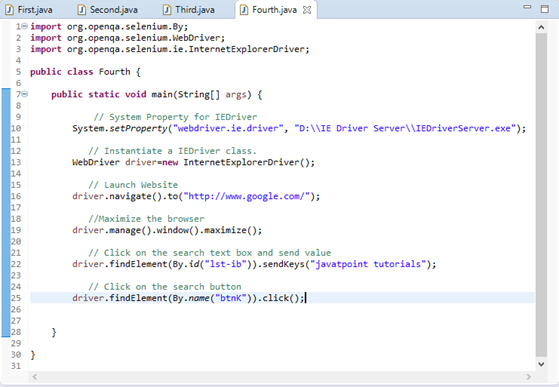 Selenium WebDriver Running test on IE Browser