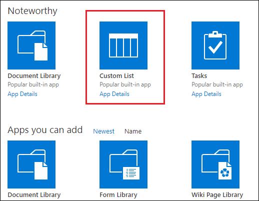 SharePoint List Apps