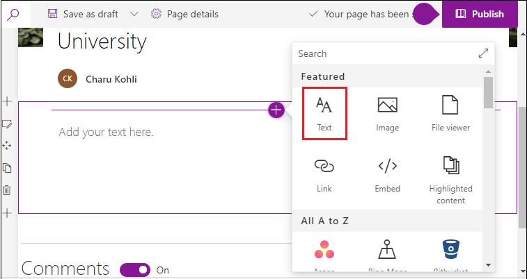 SharePoint Pages and Web Part
