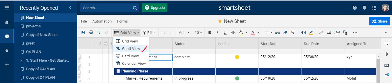 Smartsheet Tutorial