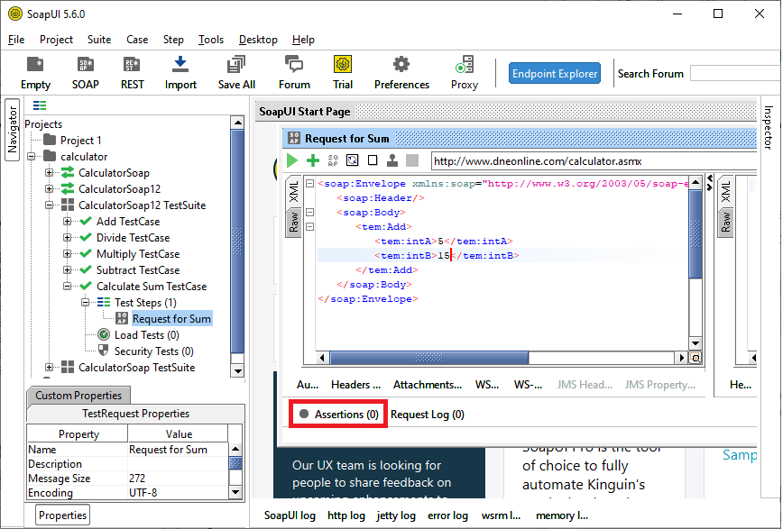 SoapUI Assertions