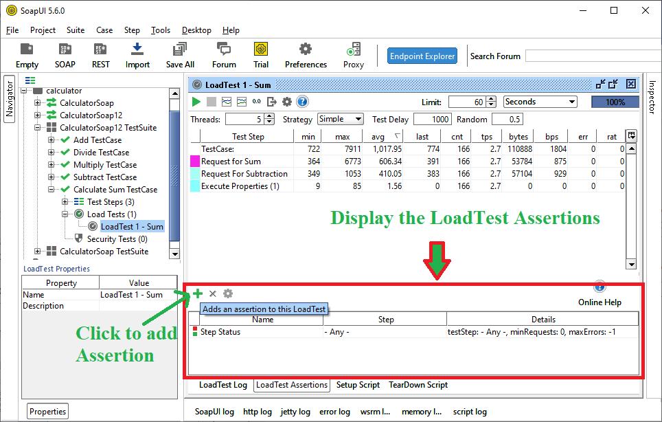 SoapUI Load Testing