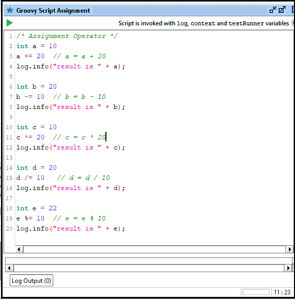 SoapUI Operator Using Groovy Script