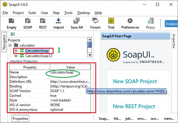 SoapUI Properties