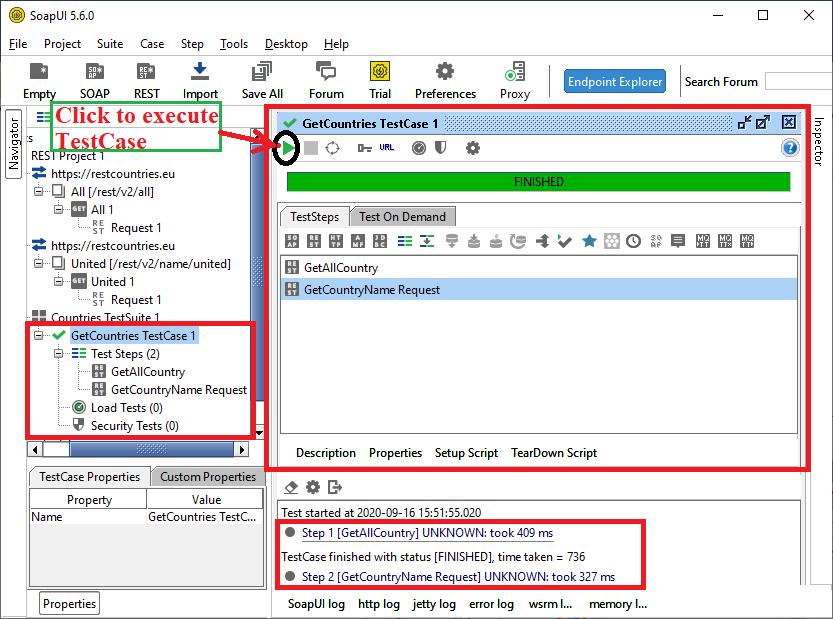 SoapUI REST Web Service