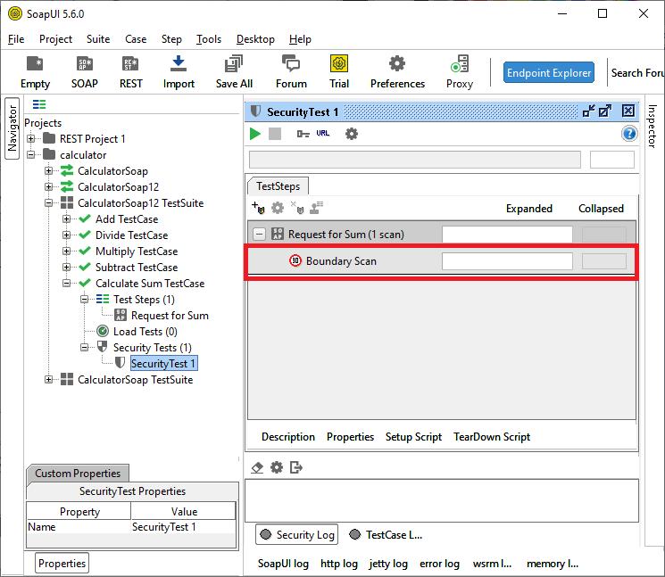 SoapUI Security Test