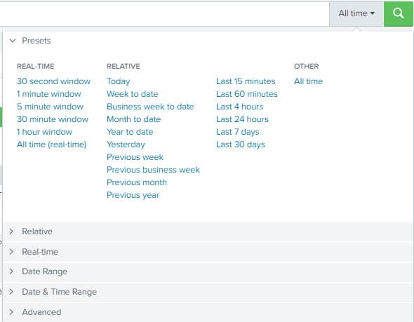 Splunk Searching with Time 1