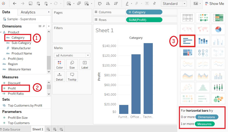 Tableau Bar Chart