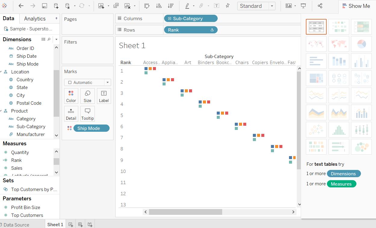 Tableau Bump Chart