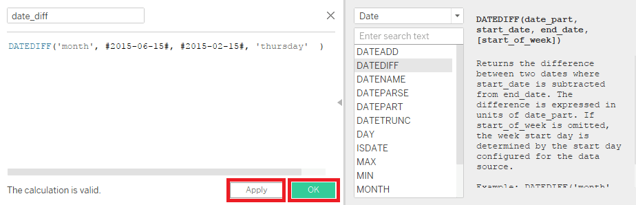 Tableau Date Calculations
