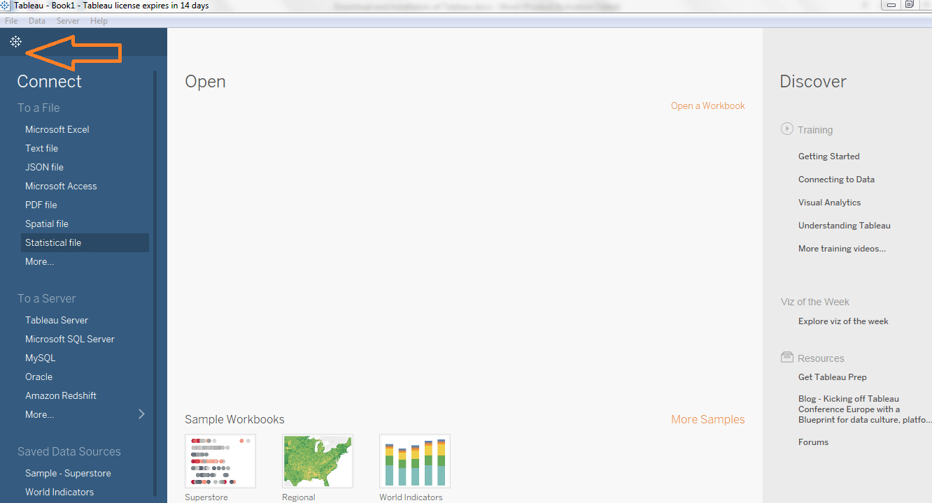 Tableau Desktop Workspace