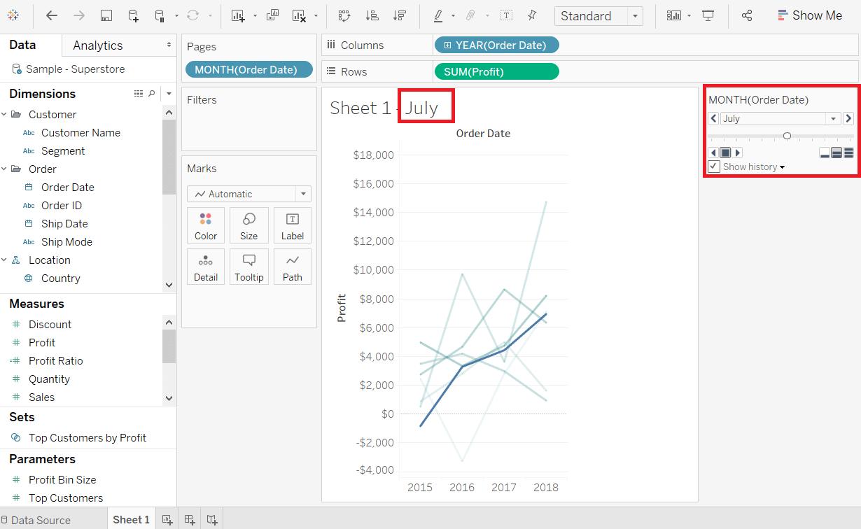 Tableau Motion Chart