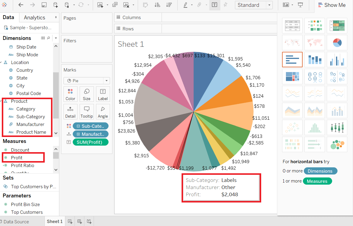 Tableau Pie Chart