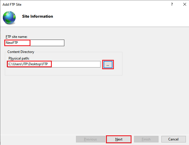 Centralized FTP Connection
