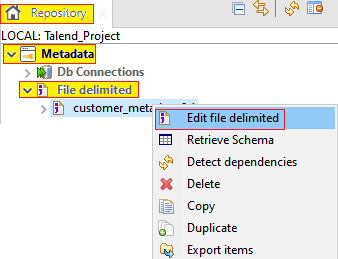 Centralizing File Delimited Metadata