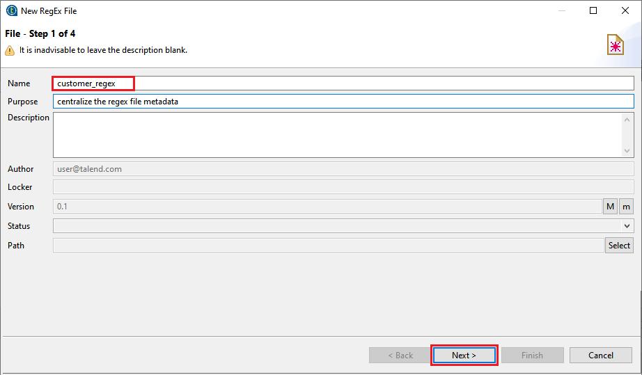 Centralizing File Regex Metadata